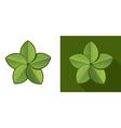 Eco leaf vector image