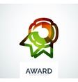 Colorful award business logo vector image vector image