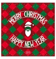 Christmas classic card design vector image