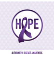 Alzheimers Awareness Badge vector image