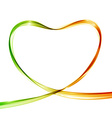 Heart from colorful waves Abstract background vector image