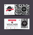 Voucher zentangle vector image