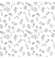 Hand drawn camping and hiking seamless pattern vector image