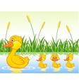 family duck cartoon vector image