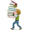 Boywithbooks vector image