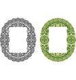 Celtic frame pattern vector image