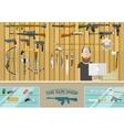 Gun shop vector image