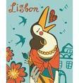 Lisbon crow fado singer vector image