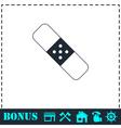 Plaster icon flat vector image