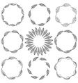 Set of feather borders decorative frame vector image