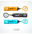 text boxes infographics icon and marker vector image