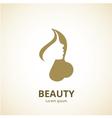 Woman face logo template vector image