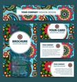corporate identity design with indian pattern vector image vector image
