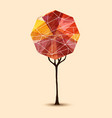 abstract tree geometric design vector image
