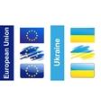 Flag Ukraine EU vector image