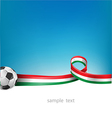 italian and mexican flag set with soccer ball vector image