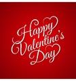 valentine day vintage lettering background vector image