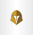gladiator helmet cap icon vector image