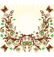 floral ornament background vector image vector image