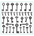 Antique Keys Silhouettes