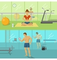 Fitness For Men And Women Compositions vector image
