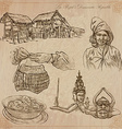 Laos Pictures of Life pack vector image