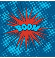 Boom comics icon in Pop-Art style vector image