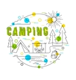 Camping Background with icons and elements vector image