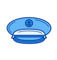 captain hat line icon vector image