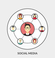 Flat design concept for Social Media for we vector image