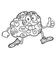 Funny Brain Cartoon vector image