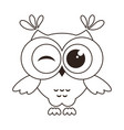 funny owl isolated on white vector image