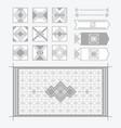 light gray geometrical tiles patterns set vector image