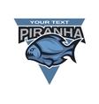 Piranha logo emblem vector image