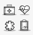 set medical elements to help the people vector image