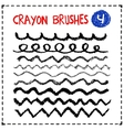 Set of oil pastel brush strokes vector image