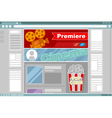 Cinema site interface design vector image