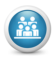 Social Network glossy icon vector image vector image