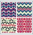 colorful geometric seamless pattern set retro vector image vector image