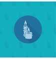 Christmas Candles Monochrome color vector image