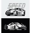 sport cars emblem vector image