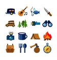 camping theme vector image