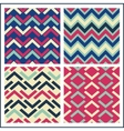 colorful geometric seamless pattern set retro vector image