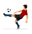 football player kicks off vector image