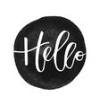 Hello hand written inscription vector image