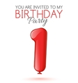 Invitation card for the celebration of 1 years vector image