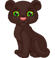 Panther cub vector image