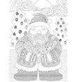 santa coloring in vector image