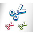 scissors web icon vector image