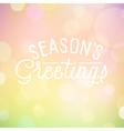 slogan bokeh season vector image